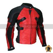 Excellent Quality Armored Style Deadpool Bikers Leather Jacket In USA